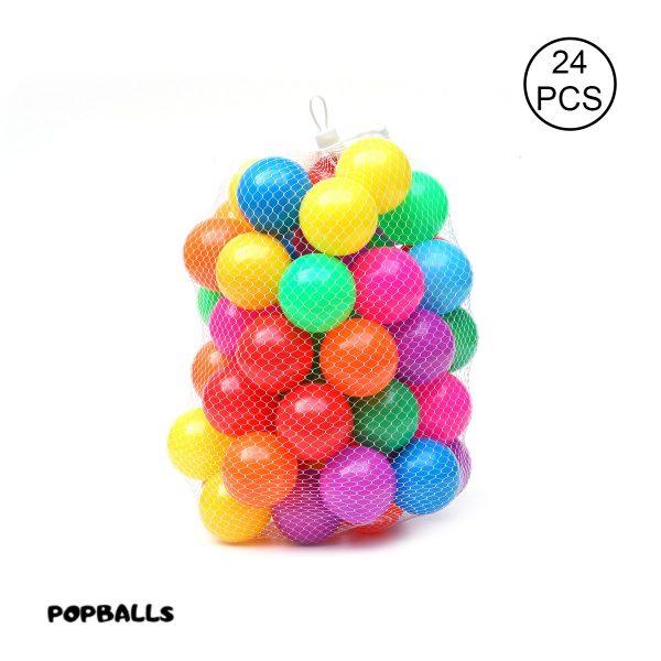 Plastic balls for kids and ball pool (6cm) - Set of 24 balls