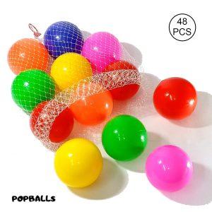 Soft Crush Proof Plastic Balls 8cm for Kids - Set Of 48 Balls